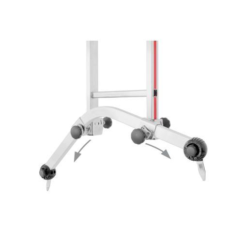 Universal-Traverse für alle gängigen Anlege-, Schiebe- und Seilzugleitern ohne Klappfuß