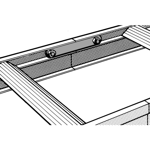 Verbindungslaschen zur Verflanschung der Leiterteile