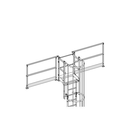 Geländer für Ausstieg