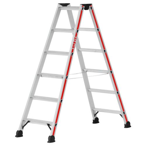 Stufenstehleiter, beidseitig begehbar